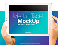 iPad Air in Female Hands PSD Mockup