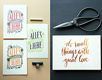 Letterpress Greeting Card Collection