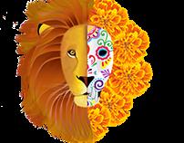 Dia de Los Muertos Lion