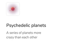 Psychedelic planets