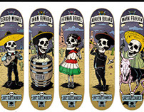 Illustrations for Jart Skateboards - Party Series
