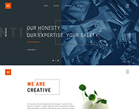XZ BUSINESS website Redesign Concept