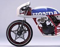 Honda Dream 50 Cafe - CGI