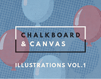 Chalkboard & Canvas / Illustrations Vol. 1
