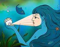 Underwater makeup