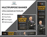 Multipurpose Banner- HTML5 Ad Templates