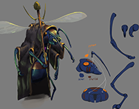 Hornet Witch concept art