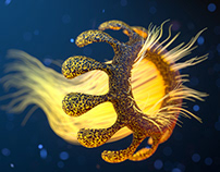 Alien jellyfish concept
