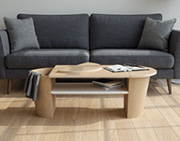 WOODROW coffee table | UMBRA