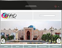 CFAD Website (Adobe Dreamweaver)