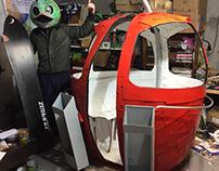 Real Size Cardboard Ski Lift - WIP