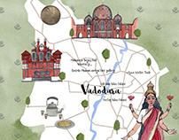 Vadodara Map for National Geographic Traveller