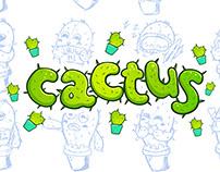 Cactus stickers for Telegram