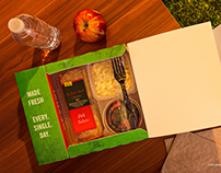 Food Box Product Photography