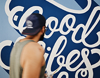 good vibes only - mural