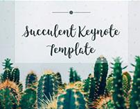 Succulent Keynote Template