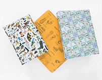 Papeles regalo (de regalo), ilustrados por artistas