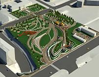 3D BIM Modeling with LOD-300 for a Public Park
