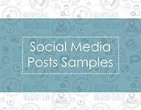 Social Media Posts Samples.