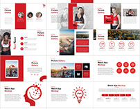 Red business analysis template