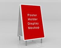 Poster Holder Mockup