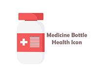 Red Medicine Bottle Health Icon