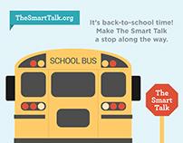 """The Smart Talk"" Social Media Back to School Graphics"
