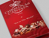 Christmas Cantata Brochure template