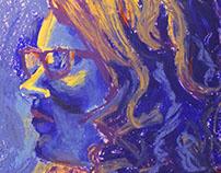 Oil Pastel Portraits