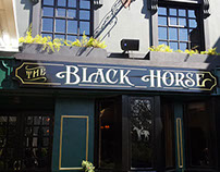 The Black Horse Pub Facade