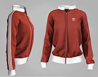 adidas sweatshirt - 3d model