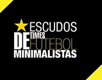 Escudos de Times de Futebol Minimalistas