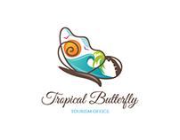 Tropical butterfly readymade logo design