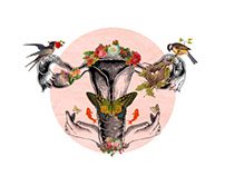 Mujer en flor