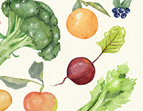 Foodie's posters. Yummy stuff watercolor style.