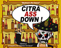 """The Day Of The Dead"" Hot Sauce Label"