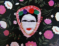 Frida Kahlo hand embroidery