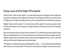 joshua farmer on behance personal essay love at first sight the spark