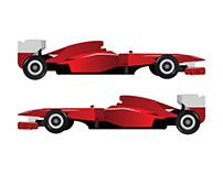 F1 Formula 1 car
