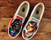 Customised Star Wars Vans