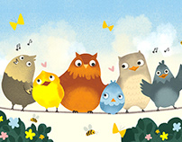 Bird Character Illustration