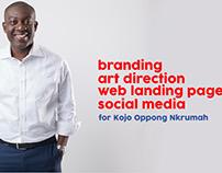 Kojo Oppong Nkrumah's branding