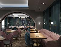 restaurant.  Kyiv/ Ukraine