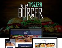 Site, APP e brand -Tiozera Burger