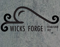 Brand Work | Wicks Forge - Custom Metalwork Logo Design