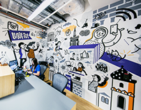 FACEBOOK POLAND / OFFICE / MURAL / 2016