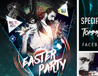 Easter Party FREE PSD Flyer