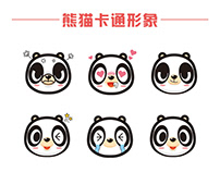 Panda cartoon image