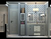 New construction of an en suite master bath design -USA