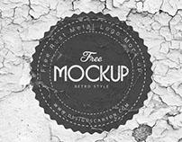 Free Rust Metal Logo Mock-up Template